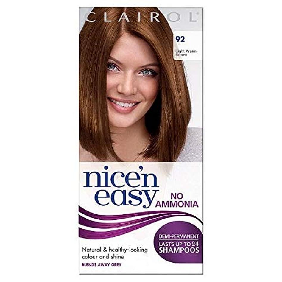 縫い目緑感動する[Nice'n Easy] Nice'N簡単に無アンモニア染毛光暖かいブラウン92 - Nice'n Easy No Ammonia Hair Dye Light Warm Brown 92 [並行輸入品]