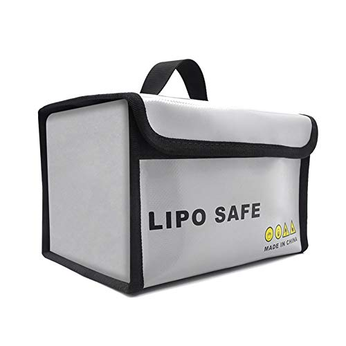 Lipo Battery Safe Bag , Li-Po-Aufbewahrungstasche Feuerfeste, Explosionsgeschützte, Entzündungshemmende Batterieschutzhandtasche , Li-Po-Aufbewahrungstasche Für Drohnen Mit Großem Platzbedarf