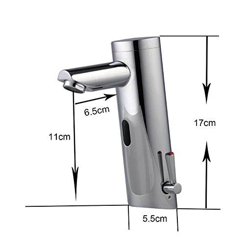 Infrarot IR Wasserhahn Sensor Armatur Automatik Waschbecken ohne Stromanschluß (Warm/Kalt)