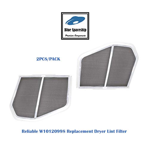 2PCS Reliable W10120998 Dryer Lint Filters. Replacement Part Fits for Whirlpool, KitchenAid, Inglis, Maytag, Admiral and Replaces W10049370 and 3390721.