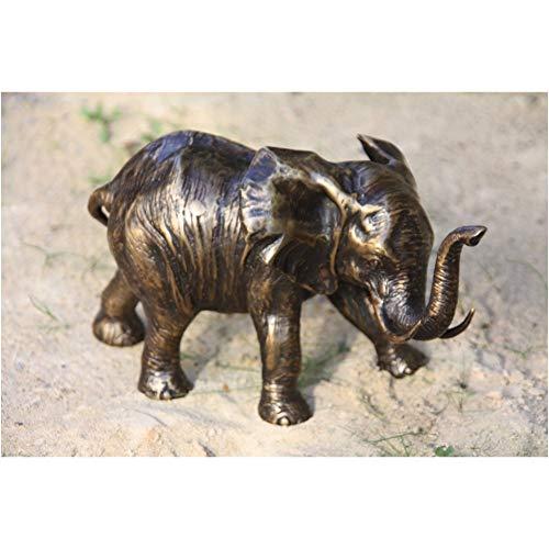 Steinfiguren Horn Bronze Elefant, Tierfigur
