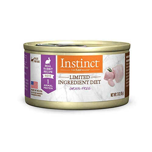 Instinct Limited Ingredient Diet Grain Free Real Rabbit Recipe Natural Wet Canned Cat Food by Nature's Variety, 3 oz. Cans (Case of 24)