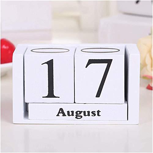 Calendarios 2021 Calendarios Vintage Vintage Perpetual Desk Calendar Block Planner Organizador de Escritorio Permanente DIY Agenda, 9.5 x 4.3 x 5cm Planificador mensual Calendario Diario ZSMFCD