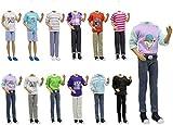 ZITA ELEMENT 5 Set Vêtements pour Poupée 12 Pouces 11.5 inch Doll, 5 Chemise & 5 Pantalon, Style Aléatoire