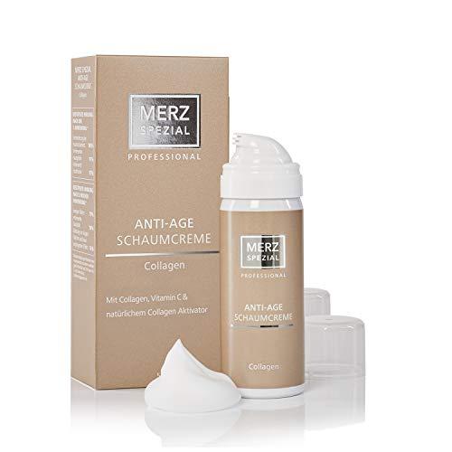 Merz Spezial Professional Anti-Age Schaumcreme Collagen - für weniger Falten und ein verbessertes Hautbild mit Vitamin C und E (1 x 50 ml)
