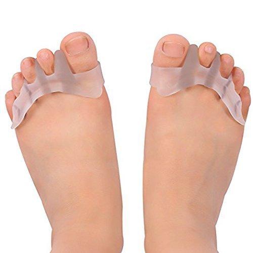 Separador de dedos del pie. Cuidado de los pies. Correctores, separadores para los bailarines, yogis y atletas, tratamiento para las juanetes, dedo del pie en martillo, Hallux Valgus par ZJchao