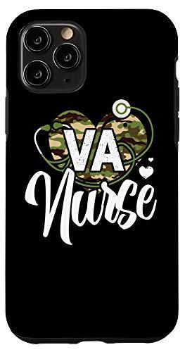 iPhone 11 Pro VA Nurse Camo Camouflage Stethoscope Heart Case