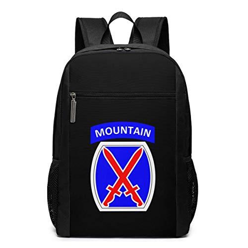 ZYWL Mochila para computadora portátil de la décima división de montaña, Mochilas de Viaje, Mochila Escolar para Mujeres y Hombres de 17 Pulgadas