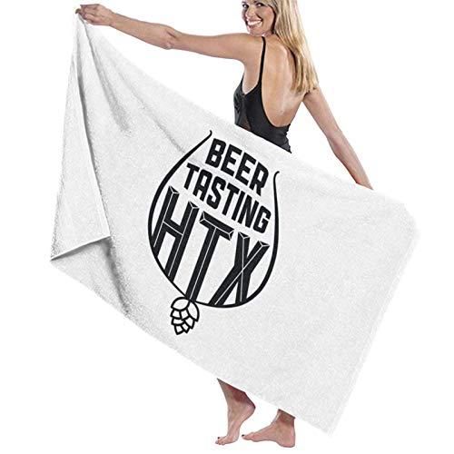 PageHar Toallas de baño, Toalla de Gran tamaño Htx de degustación de Cerveza, Toallas de Playa Decorativas para Adultos para Acampar de Viaje, 80x130cm