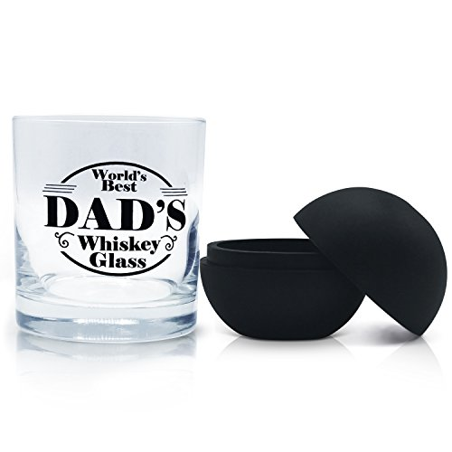 Rocks Old Fashioned Glass for Dad - 11oz Scotch Bourbon Whiskey Cocktail Tumbler. Dad Will Love This for Birthdays, Fathers Day