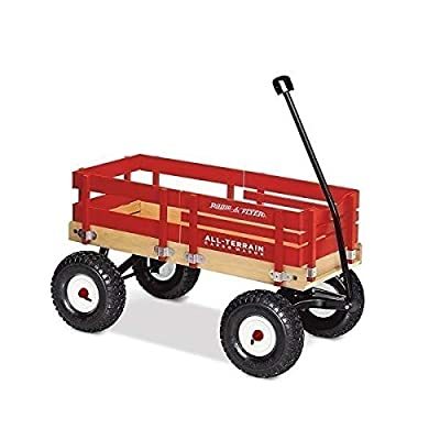 Radio Flyer All-Terrain Cargo Wagon for Kids, Garden and Cargo, Red from Radio Flyer