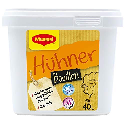 Maggi Hühnerbouillon o.k.A., ohne Hefe & ohne Einlage, 6er Pack (6 x 800g Gastro Box)