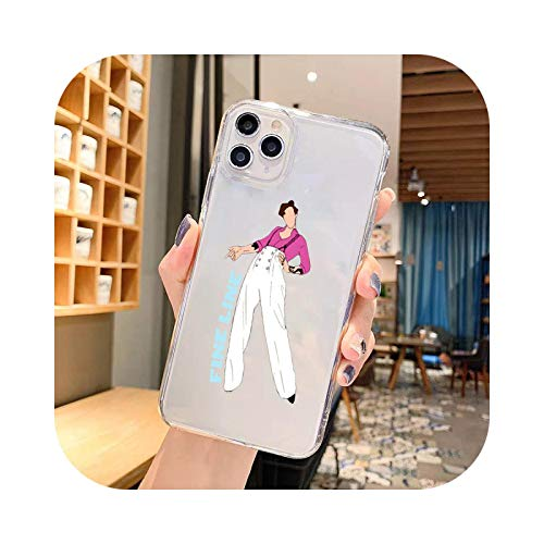 Harry Styles - Funda transparente para iPhone 11 Pro 12 XS MAX SE2 XR 7 8 6 Plus (poliuretano termoplástico)