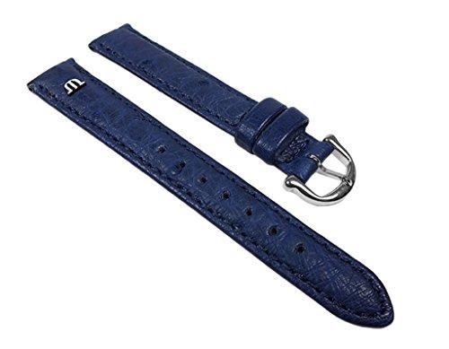 Maurice Lacroix Ersatzband Straußenleder Blau 22627S, Stegbreite:18mm