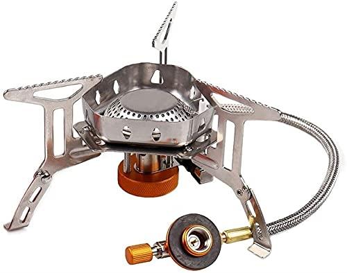 Estufa de gas de campamento portátil Mini, 3500W Estufa de mochilero a prueba de viento con encendido Piezo Cocina al aire libre quemador estufa de camping para picnic de pesca Electrodomésticos al ai