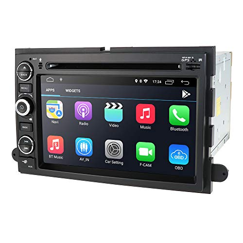 hizpo Android 10 Car Navigation Radio Fit for Ford F150 F250 F350 Edge Fusion Mustang in Dash DVD Player GPS Stereo Radio BT Steering Wheel Control WiFi 4G Support DVR DTV OBD2 TPMS