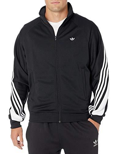 adidas Originals - Camiseta Deportiva para Hombre con 3 Rayas - Negro - Small