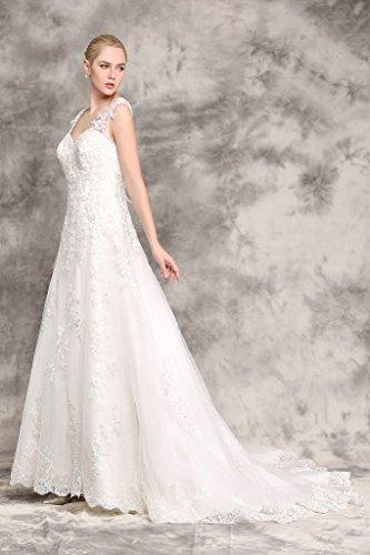 Brautkleid mit Rückenansicht und Schleppe Ivory - 4
