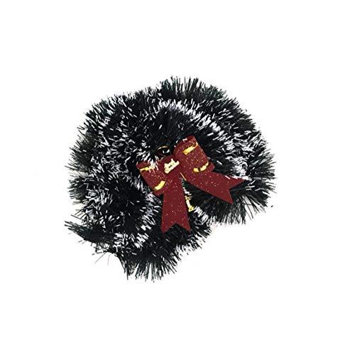 YZLSM Weihnachten Tinsel Weihnachtsbaum Band Dicke Chunky Breite Glänzend Tinsel Garland Mit Merry Christmas Letters Prägte Dekoration Glänzend Grün