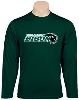 Nichols College Performance Dark Green Longsleeve Shirt 'Nichols College Bison w/Bison' - Small
