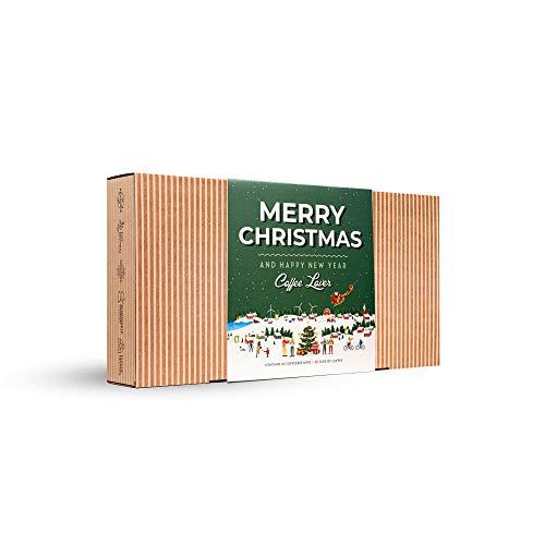 Kaffee Geschenk Set für Weihnachten - Gourmet Geschenkset mit 10 Coffee Brewer aus Aller Welt für Kaffeeliebhaber   Spezialitäten & Gemahlen Weihnachtskaffee