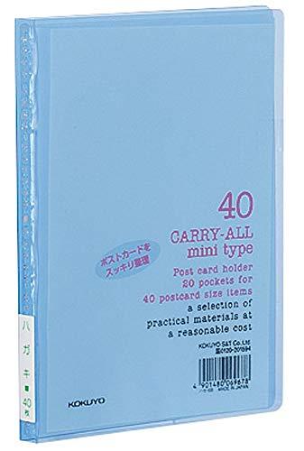 コクヨ ポストカードホルダー キャリーオール 固定式 ミニタイプ A6 はがき40枚収容 青 ハセ-6B 【まとめ買い10冊セット】