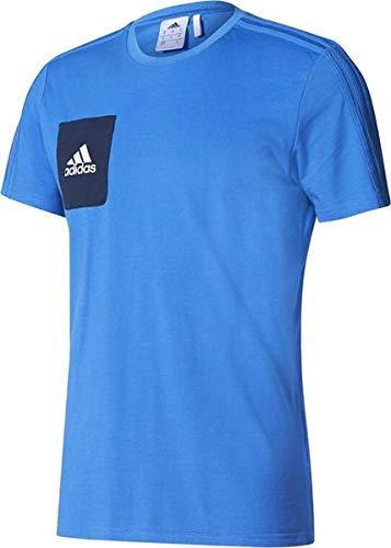 adidas Tiro 17 tee Camiseta, Hombre, Azul (Maruni/Blanco), M