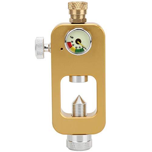 Adaptador De Buceo Conector De Botella De Oxígeno De 8 Mm con Manómetro DEDEPU Submarino Equipo De SnorkelGolden