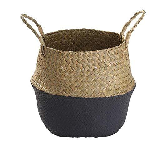 Basket Belly Woven Seagrass Per Bagagli Servizio Lavanderia Picnic Vaso Coprire E Generi Alimentari E Giocattoli Bagagli S Cucina Camera Decorazione Forniture