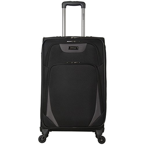 Kenneth Cole Reaction Going Places 20' 600d Polyester Expandable 4-Wheel Spinner Carry-on Luggage, Red