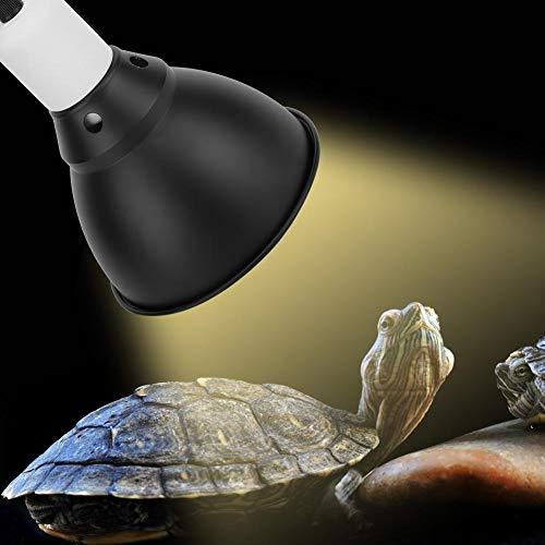 xianshi Pantalla E27 Pantalla de luz UVB, Pantalla de luz Duradera, Metal para Tortugas lagartos(European Standard 220V)