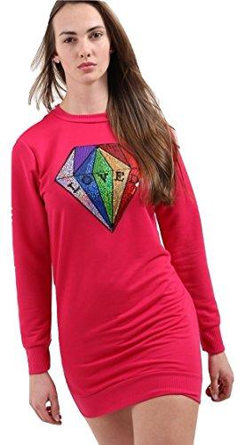 Momo&Ayat Fashions Dames Liefde Pailletten Diamant Sweatshirt Mini Jurk UK Maat 8-14