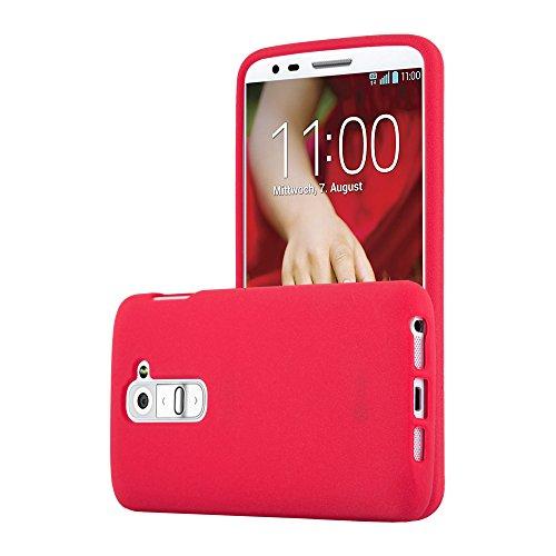 Cadorabo Custodia per LG G2 MINI in FROST ROSSO - Morbida Cover Protettiva Sottile di Silicone TPU con Bordo Protezione - Ultra Slim Case Antiurto Gel Back Bumper Guscio