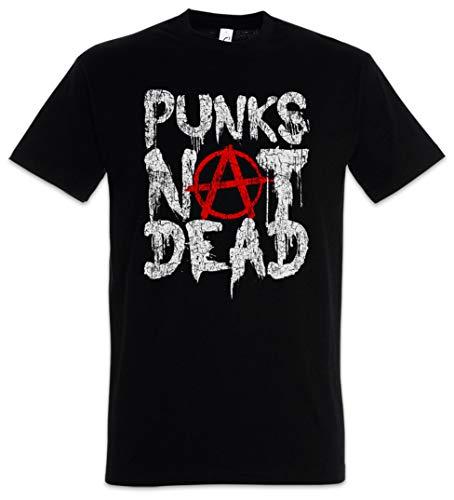 Urban Backwoods Punks Not Dead II Camiseta De Hombre T-Shirt Negro Talla L