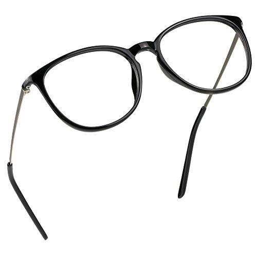LifeArt Blaue Licht Blockieren Brille, Anti-Augen-Müdigkeit, Computer Lesebrillen, Gaming Brille, TV Brille für Frauen Männer, Anti UV, Anti Glare (Schwarz, 0.25 Vergrößerung)
