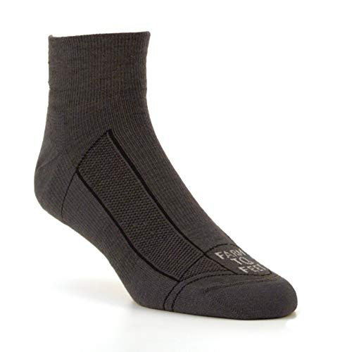 Farm to Feet Unisex Greensboro 1/4 Crew Light Cushion Merino Wool Socks, Carnation, Medium