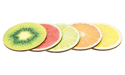Getränke-Untersätze Früchte Set