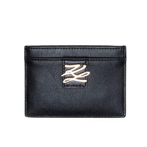 KARL LAGERFELD Porte-cartes à rabat autograph - Noir - Taille unique