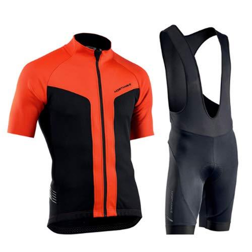 Hplights Hombres Ropa Ciclismo Equipacion de Bicicleta con 9D Gel Acolchado MTB Ciclismo Tirantes Culotte Pantalones Cortos Culotes