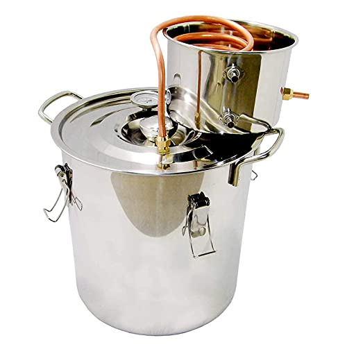 JIXIN Destilador De Agua De Alcohol De Etanol Moonshine Todavía Caldera Inoxidable para Cocina Casera,6l
