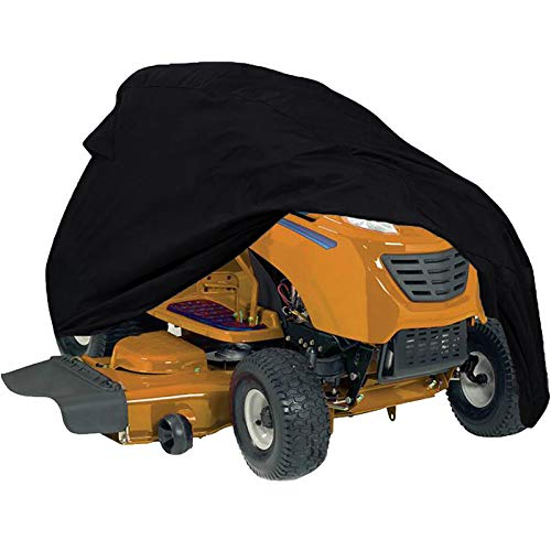 """Szblnsm Waterproof Riding Lawn Mower Cover - Heavy Duty 420D Polyester Oxford Tractor Cover Fits Decks up to 54"""", UV Protection Universal Fit with Drawstring Storage Bag"""