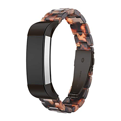 Ayeger Resin Band Compatible with Fitbit Alta/Alta HR/Ace,Women Men Resin Accessory Black Buckle Band Wristband Strap Blacelet for Fitbit Alta/Alta HR/Ace Smart Watch Fitness(Black)