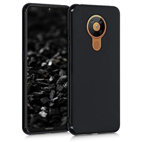 kwmobile Hülle kompatibel mit Nokia 5.3 - Hülle Silikon - Soft Handyhülle - Handy Hülle in Schwarz matt
