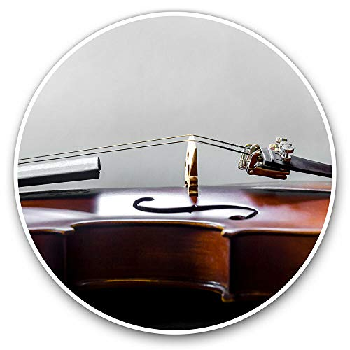 Vinyl Decal Sticker for Laptop Book Guitar Motorcycle Helmet Toolbox, Orchestral Violin String Instrument - 4 Inch in Width
