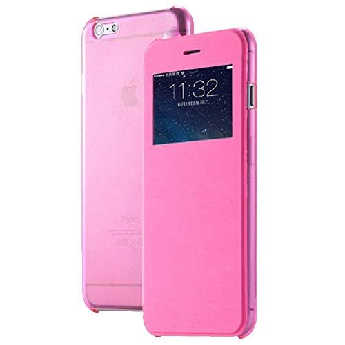 Roar Handy Hülle für HTC One M9 Handyhülle Pink mit Fenster, Tasche Schutzhülle Handytasche [Ultra Slim Wallet, Design Flipcase, Inkl. Sichtfenster]