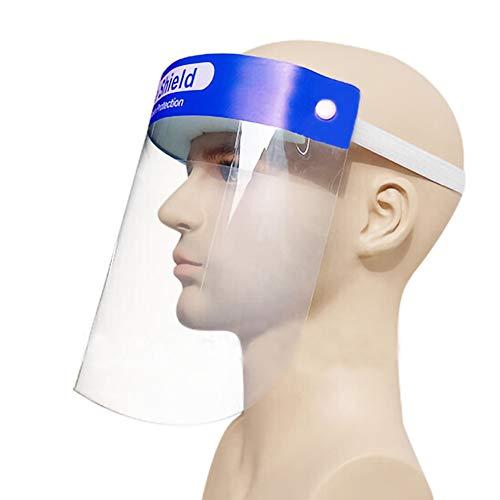 ulofpc 1-Teiliges Vollgesichtsschutzvisier, Leichter, Verstellbarer Transparenter Gesichtsschutz aus Kunststoff, um Speichel, Tröpfchen, Pollen Und Staub zu Vermeiden