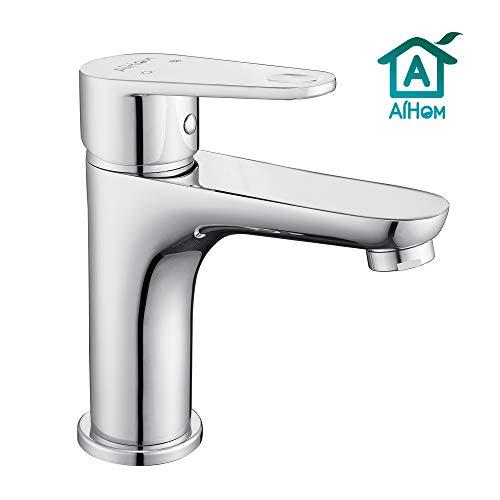 Aihom Chrom Wasserhahn Bad Armatur Messing Waschtischarmatur Mischbatterie Einhandmischer Badarmatur Waschbeckenarmatur für Badezimmer