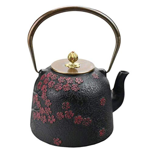 Antique Japanese Iron Pot cast Iron teapot cast Iron Pot Cherry Blossom Brilliant Iron Kettle Kettle Tea Teapot Tea Kettle, Best Gift, 1.4L