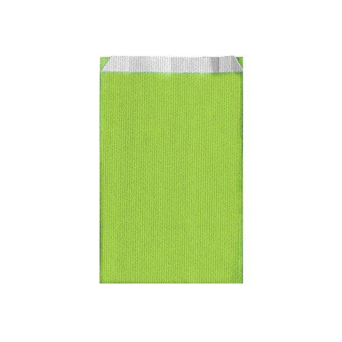 Garcia de Pou unité de 250 Sacs à Plat 60 g/m² en boîte, 12 + 5 x 18 cm, Cellulose, Vert Anis, 12 x 18 x 30 cm