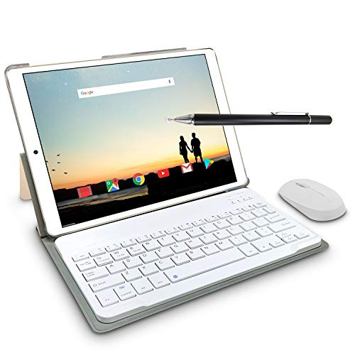 10 Pollici Tablet Con wifi Offerte, 2 in 1 Tablet PC 3GB RAM +64GB ROM 4G Android 8.1 8000mAh Dual SIM Full HD PC, Portatili e Tablet WiFi   GPS   Bluetooth Tablet (Oro)